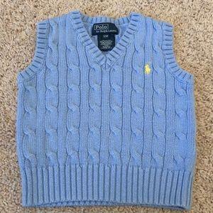 Blue Polo Ralph Lauren sweater vest, 12M